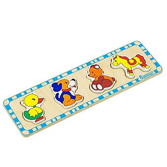 Alatoys Wooden  Puzzles (bear, duck, horse, dog)