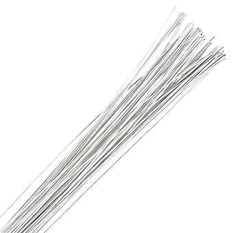 Hvit Floral Wire - 24 gauge (0.56mm)