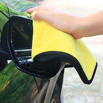 Limpeza de microfibra grande, auto carro detalhando panos macios, lavagem de polimento de cuidados
