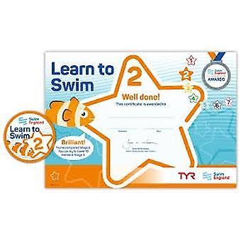 ASA zwemmen Engeland leren zwemmen Award fase 2
