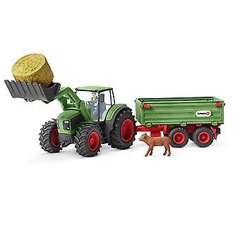 Tracteur schleich avec remorque