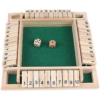 DZK Shut the Box Table Board Games Wooden Digital Games Dice Games for 4 Players Home Classroom or