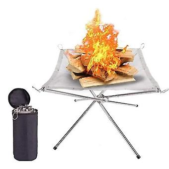 Portable Contractile Bbq Holder Outdoor Fire Rack
