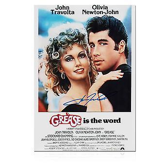John Travolta Signed Grease Film Poster