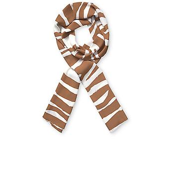 Masai Clothing Chipmunk Zebra Print Along Scarf