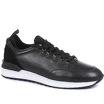 Jones Bootmaker Mens Seoul Lace-Up Leather Trainers
