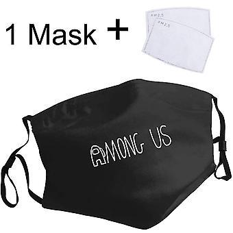 بيننا المحتال Crewmate قناع غطاء الفم الوجه، والرجال، والنساء، والغبار المضادة،