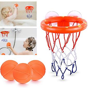 Bath Toys Basketballs Kids Shooting Basket Bathtub Water Play Set for Baby Girl Boy with Mini Plastic Basketballs Funny Shower Indoor Playing