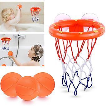 אמבטיה צעצועים כדורסל ילדים ירי סל אמבטיה מים לשחק סט עבור תינוקת ילד עם מיני פלסטיק כדורי סל מצחיק מקלחת מקורה משחק
