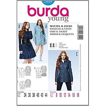 Burda Young symönster 7019 - Missar Coat & Jacka, Monterad Storlek (8-10-12-14-16-18)
