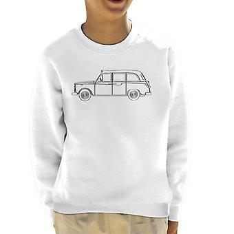 London Taxi Company TX4 Light Outline Kid&s Sweatshirt