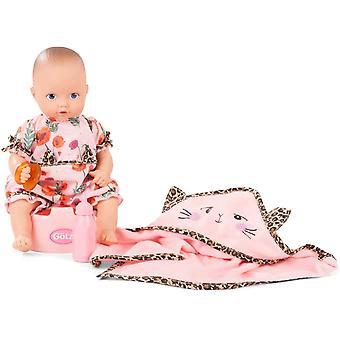 Wokex 2053040 Aquini Mdchen Catness Puppe - 33 cm Badepuppe mit Zubehr, blaueen gemalt Augen, ohne