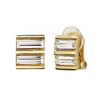 Traveller - Clip Earring - Swarovski Crystals - 22ct Gold Plated - 157433 - 940