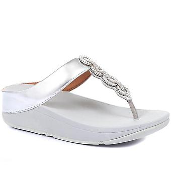 FitFlop Womens Fino Sparkle Toe Posts