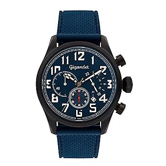 Gigandet G4-008 - Montre pour homme, bracelet en silicone, couleur: bleu