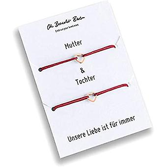 Set of 2 bracelets for mom and daughter, gold plated, 21 colors, nylon, for daughter, for mom, for every look and color: Ref. 7110539085317