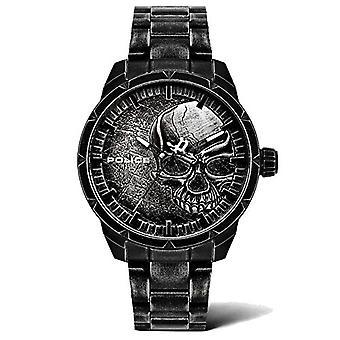 警察アナログ時計クォーツマンステンレススチールストラップPL15715JSQU.78M