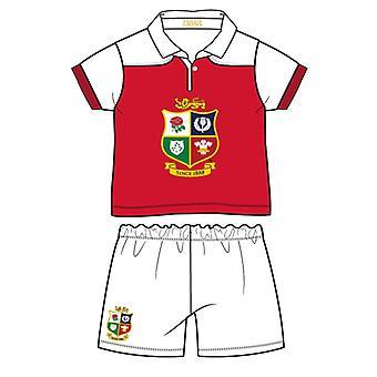 İngiliz & İrlandalı Lions Rugby Bebek/Yürümeye Başlayan Çocuk Tişörtü & Şort Seti   Kırmızı/Beyaz   2021   18-24 Ay