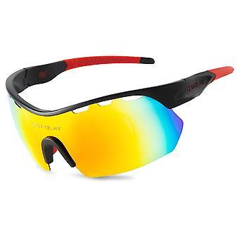 Occhiali da sole polarizzati ultravioletti occhiali da equitazione all'aperto a prova di polvere Sp