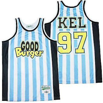 Men's Kel Good Burger #97 Sports Basketball Jersey For Mens T Shirt S-xxl,fashion 90s Hip Hop Clothing For Party, Stitched Letters And Numbers