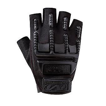2Pcs svart utendørs fitness hansker, halvfinger sykling taktiske vernehansker, sport klatring hansker az8584