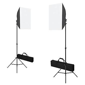 vidaXL Professionelle Studioleuchten 2 Stk. 40 x 60 cm Stahl Schwarz