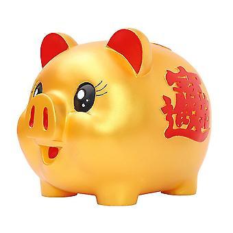 Spaarpot Lucky Golden Pig Drop-resistant Spaarvarken