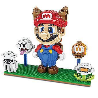 New Super Mario Building Blocks Puzzle Micro 3d Figures Educational Brick Toys ES7498