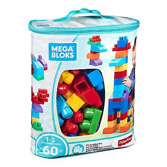 Mega Bloks Big Building Bag, Blue, 60 Pieces