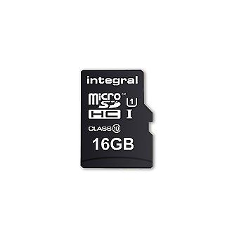 Integral 16GB Micro SD-kort MicroSDHC Cl10 UHS 1 90 Mb/S + adapter