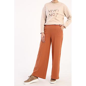 מכנסי טרנינג רחבים עם כיס
