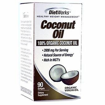 Diet Works Coconut Oil, 90 Softgels