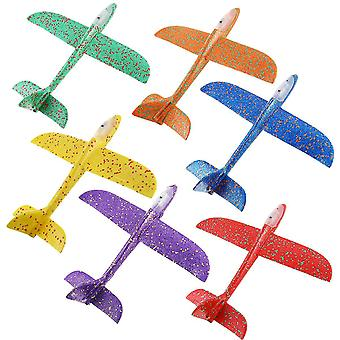 6ks Shine Airplane Model Ručné hádzanie Vírivé lietajúce lietadlá klzáka