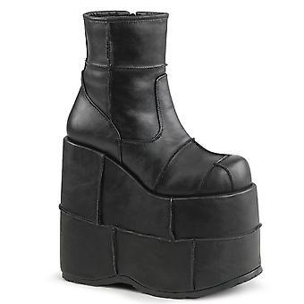 Demonia Unisex Boots STACK-201 Blk Vegan Leather