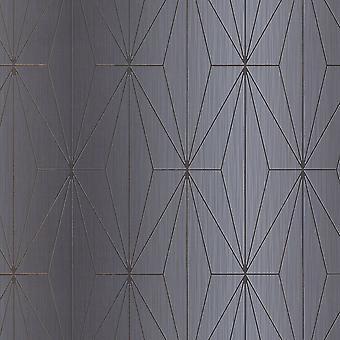 Muriva Kayla Grey Gunmetal Wallpaper 703014