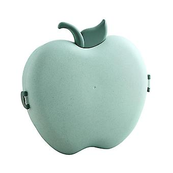 Apple  Bowl Fruit Candy Storage Box With Lid Creative Modern Plastic Snack Dried(green)