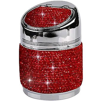 Car Ashtray Rhinestone Cigarette Ashtray With Lid For Car Home Office