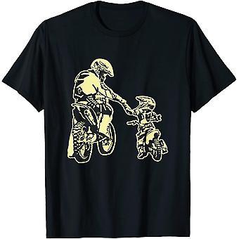 Vater und Sohn Dirt Bike Racer Dirt Road Racing Motorrad T-Shirt