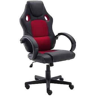 Bürostuhl PU-Leder Schreibtischstuhl Gaming Stuhl, Ergonomisch Höhenverstellbarer Racing Stuhl,