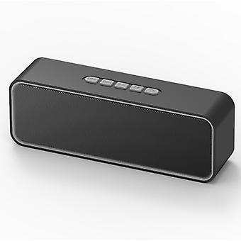 Alto-falante portátil sem fio, alto-falante Bluetooth 5.0 com graves hifi estéreo 3D, bateria de 1500mAh, duração da bateria de 12 horas (Cinza)