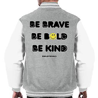 Smiley World Be Brave Be Bold Be Kind Men's Varsity Jacket
