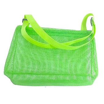 Kids Shell Collecting Bag Beach Sand Toy Totes(Green)