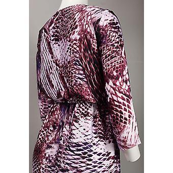 שמלת סאטן שיפון עם הדפס עור בעלי חיים