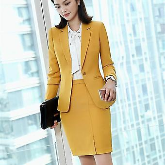 Women Skirt Suits Office Uniforms Female Blazer Set Business Lady Work