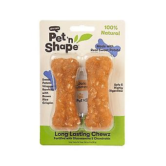 "Pet 'n Shape Long Lasting Chewz Bone - Sweet Potato Flavor - 4"" Long (2 Pack)"