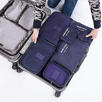 6 stk / sett Square Travel bagasje bagasjeposer