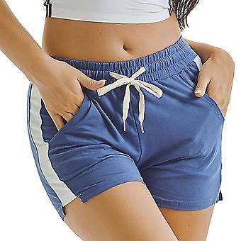 Women Sports Yoga Shorts  Beach Hot Pants Trunks Drawstring