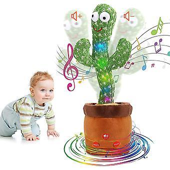 Jison21 Dancing Cactus Adjustable Volume Plush Dancing Cactus, Singing Cactus, Talking Cactus Repeat Home Accessory Gifts For Children (singing 120+da