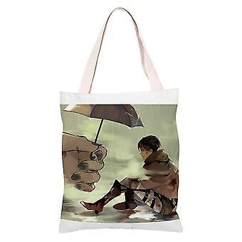 الكرتون أنيمي قماش التسوق حقيبة حمل، الهجوم على تيتان #8