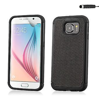 Shock proof skrzynki pokrywa dla Samsung Galaxy S6 (SM-G920) - czarny